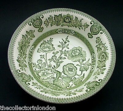 Vintage 1970's EIT Indian Tree Green Pattern Fruit Salad Bowl 22cm Looks in VGC