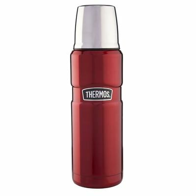 Thermos Stainless Steel Red King Drinks Flask 0.47 Litre 184804