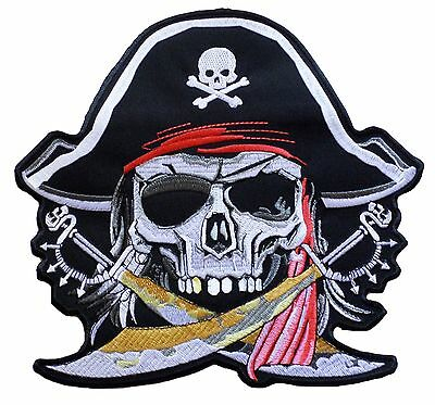 Ecusson écusson brodé patche dorsal (dos) grande taille PIRATE patch grand