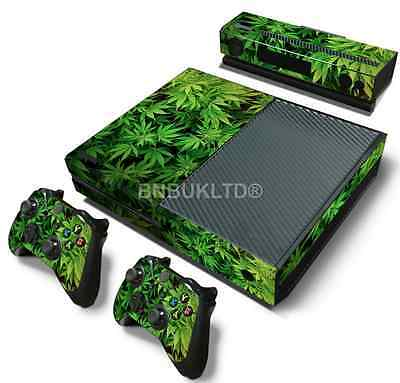Green Leaves Skin Sticker For Xbox ONE Console Controller + Kinect Decal Vinyl