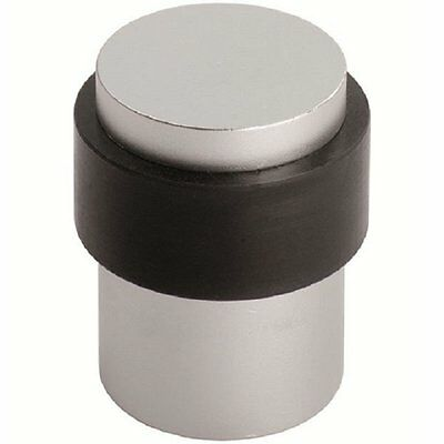 Stainless Steel ZAS85 Floor Mounted Door Stop Stopper with Rubber Ring 35mm Dia.