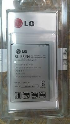 5 pcs lot New OEM LG G3 BATTERY Original BL-53YH VS985 F400 D850 D855 3000mAh