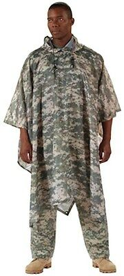 Army ROTHCO Military ACU Digital Camo Rip-Stop Poncho  ONE SIZE FIT ALL