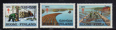 FINLANDIA/FINLAND 1971 MNH SC.B191/B193 Timber Industry