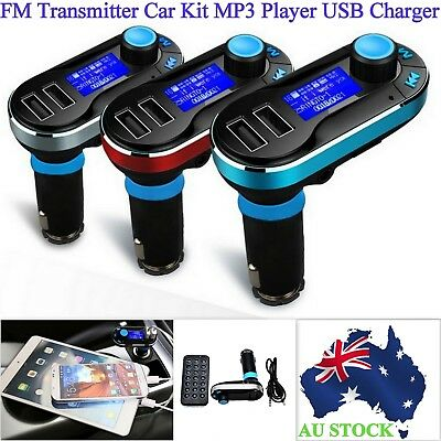Bluetooth FM Transmitter MP3 Player USB Charger Car Kit For iPhone iPad Samsung