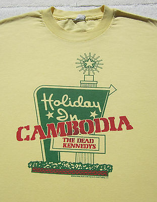 DEAD KENNEDYS holiday in cambodia LARGE T-SHIRT