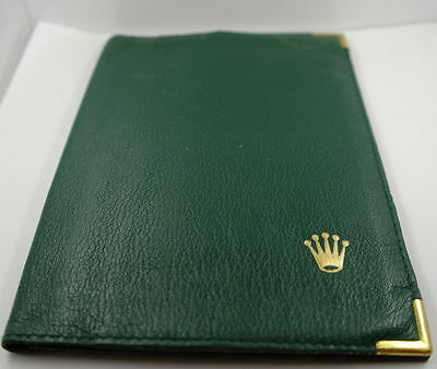 Rolex  GREEN Leather Wallets in pure calf leather for sale