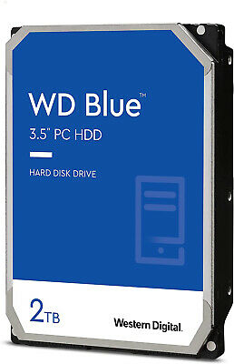 "Western Digital WD Blue 2TB 3.5"" SATA Internal Desktop Hard Drive 5400RPM PC HDD"