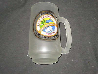 East Central Region 1979 All Hands Training Conference Smoked Glass Mug     eb13