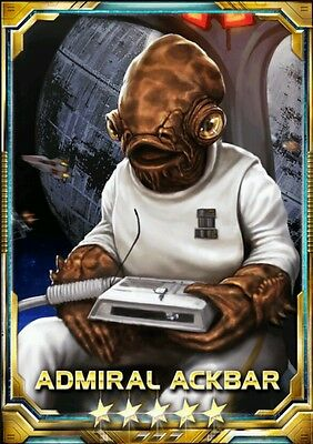 Star Wars Force Collection Admiral Ackbar [It's a Trap] 5 Star Base Guide