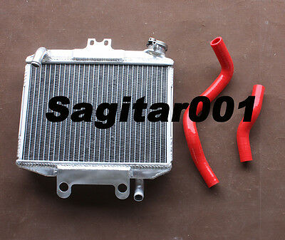 Aluminum radiator + Red Silicone hose for Honda CR250R 1997 1998 1999