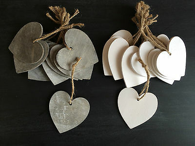Set of 10 Love Hearts Hanging Wedding Wishing Tree Decorations Gift Tags Crafts