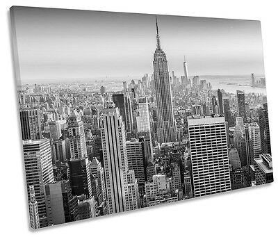New York Manhattan Empire State Building Canvas Wall Art Picture Print 50x76cm