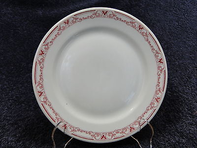 Shenango China Red Scrolls Outer Band Vintage Restaurant Ware Salad Plate