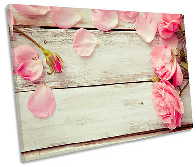 Rose Petals Shabby Chic SINGLE CANVAS WALL ART Picture Print