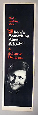 """Johnny Duncan """"There's Something About A Lady"""" PRINT AD - 1971"""