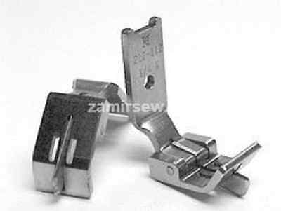 Open Seam Guiding Foot For Needle Feed Double Needle Machines