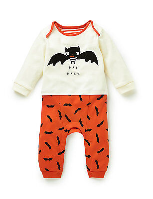 Marks and Spencer M&S Bat Baby Cotton babygrow Sleepsuit 0-18 Mths NEW