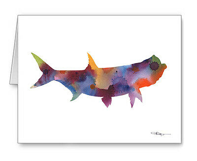 Tarpon Fish Note Cards With Envelopes
