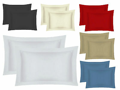 Oxford Housewife Pillow Cases 100% Egyptian Cotton 200 Thread Hotel Quality