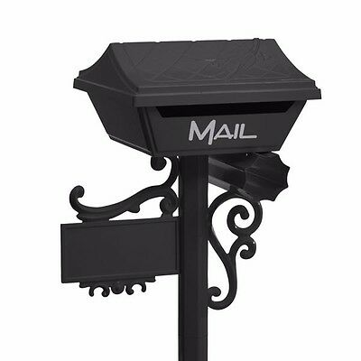 SALE Milkcan BLACK Letterbox ALUMINIUM Gumleaf Freestanding Box and Post Mailbox