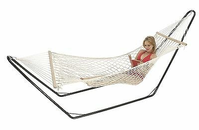 Hammock Single 5mm Cotton Rope Strong Portable Comfortable Outdoor Camp Swinging