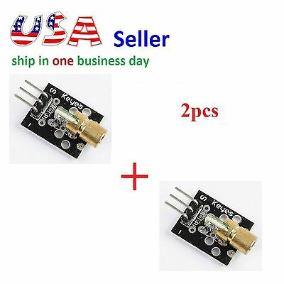 2pc Laser Sensor Module 650nm 6mm 5V 5mW Red Laser Dot Diode Copper Head Arduino