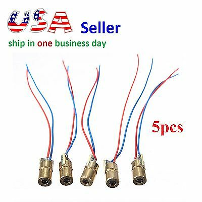 5pcs 650nm 3V 5mW Laser Red Dot Module Laser Sight Laser Diode Pointer Arduino