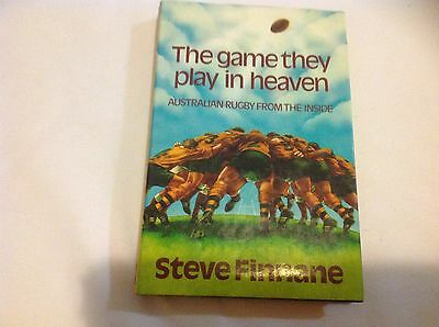 Steve Finnane the game they play in heaven signed hard cover book rugby union