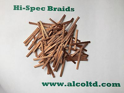 MICRO-SCALEXTRIC Car spares,Copper Braids/Brushes,(pack of 100) www.alcoltd.com