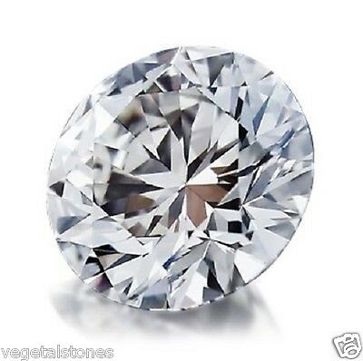 Moissanite blanche (H/I)  de 1,42Ct en rond facetté (brillant)