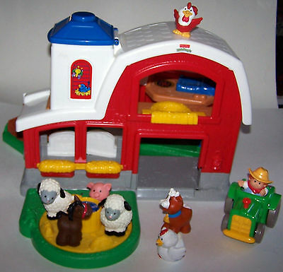 NICE! FISHER Price Little People Animal Sounds Farm ...