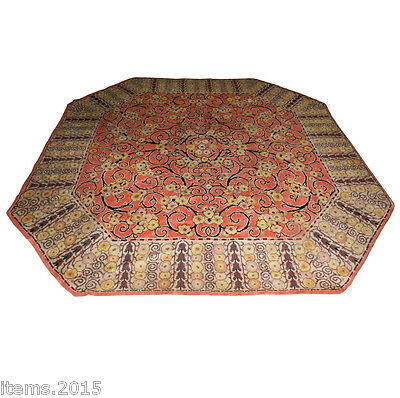 Grand Tapis En Laine d'Epoque Art Deco Vers 1925/1930