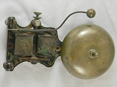 Antique Brass Iron Alarm Fire Door Bell Industrial Decorative Paint