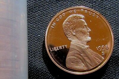 1998-S San Francisco Mint Lincoln Memorial Cent Proof