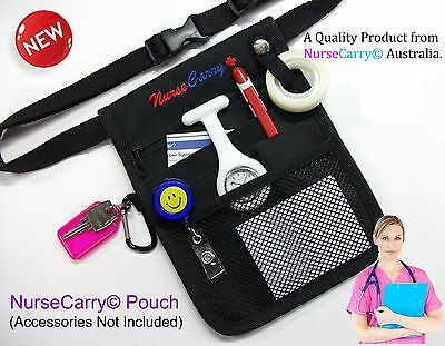 BLACK Nurse Carry® POUCH POCKET Quick Pick Waist Bag + ICU pen + Key Holder
