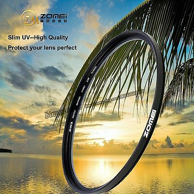 ZOMEI 40.5/49/52/55/58/62/67/72/77/82/86mm Slim UV Filter for Canon Nikon Camera