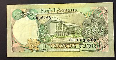 1977 500 rupiah QFF 036763 circulated condition