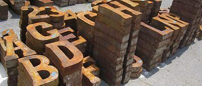 """Rustic Recycled 14"""" Metal Letters and Numbers Vintage Industrial Antique Rust"""