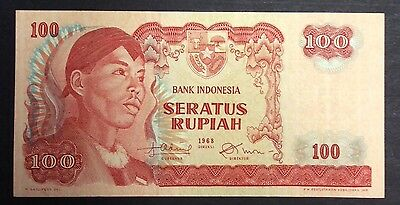 1968  100 Rupiah ZFH070050 circulated condition