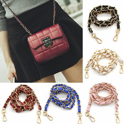 Leather Chain Handbag Purse Bag Shoulder Strap Crossbody Replacement Women New