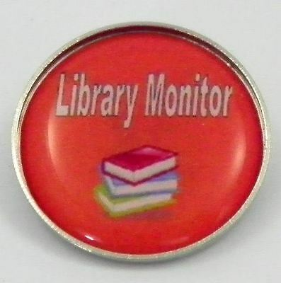 Library Monitor Metal Pin Badge with Brooch Fitting