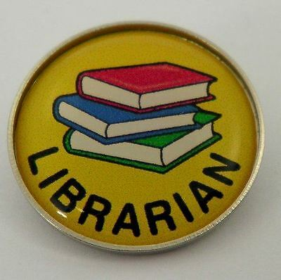 Librarian Metal Pin Badge with Brooch Fitting - Pack of 5