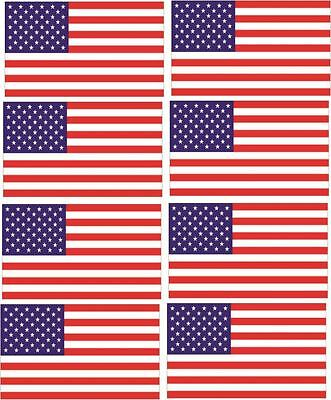 American Flag Car Decal: Small (Pack of 8)
