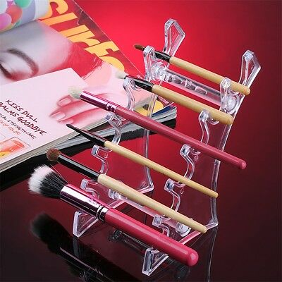 6 Slots Vertically-put Cosmatic Brushes Pen Jewelry Display Holder Rack BA