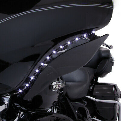 Ciro LED Accent Turn Signals Bat Blades for Harley Batwing Fairing 14-16
