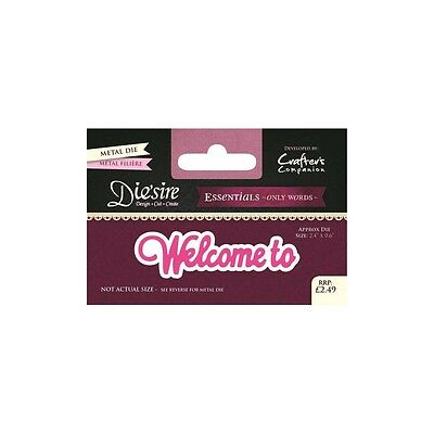 Crafters Companion DIESIRE Only Words WELCOME TO Design Cut Create  DS-E-W-41