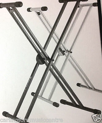 KEYBOARD STAND K&M X Double BRACED GERMAN MADE SHIPPING TODAY CMC 02 9873 2333