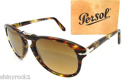Authentic PERSOL 714S Folding Polarized Sunglass PO 714 - 938/81  *NEW*  54mm