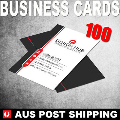 100 Business Cards (Front Only) - 90x54mm - BC01001